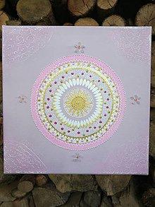 Obrazy - Ružová mandala s ruženínom - 9798057_