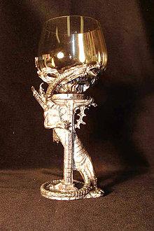 Nádoby - Pohár na víno - drak - 9796925_