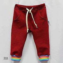 Detské oblečenie - Bordové tepláky - 9796612_