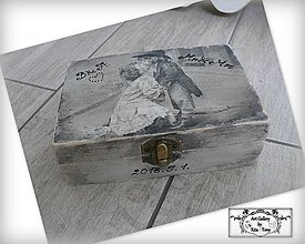 Krabičky - Svadobná krabička s retro motívom :) - 9796957_