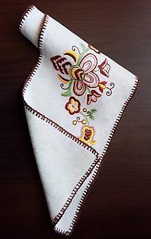 Úžitkový textil - Vyšívaná dečka - kvetovaná (2) - 9797695_