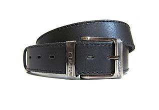 Opasky - Pánsky kožený jeansový opasok - 9800530_