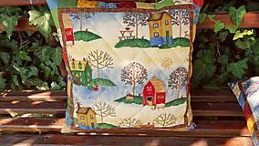 Úžitkový textil - V jabloňovom sade ... vankúš No.2 - 9799285_