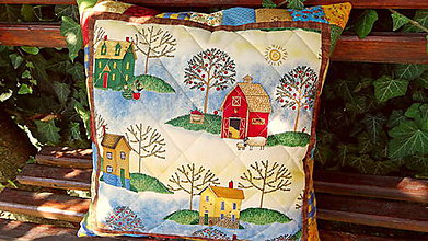Úžitkový textil - V jabloňovom sade ... vankúš No.1 - 9799265_