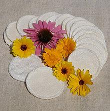 Úžitkový textil - Kozmetické odličovacie tampóny - biobavlna (sada 5 kusov) - 9800433_