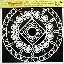 Pomôcky/Nástroje - Šablóna TCW - 30x30 cm - mandala, krajka, čipka, ornament, indies - 9799648_