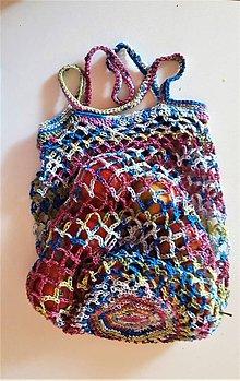 Nákupné tašky - Eko sieťovka 1- prírodné materiály - 9800930_