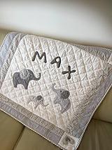 Textil - Detská deka SLONKO - 9800152_