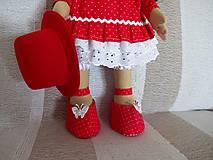 Bábiky - Bábika v červenom - 9799321_