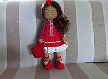 Bábiky - Bábika v červenom - 9799322_