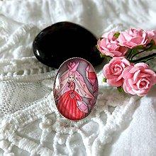 Prstene - Kráľovná ružových kryštálov_prstienok - 9800636_