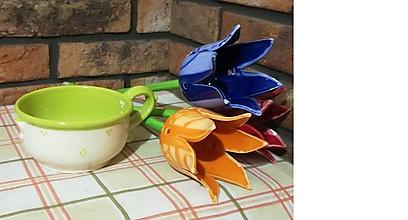Nádoby - Šálka na čaj,polievku - pistáciový mix - 9799486_