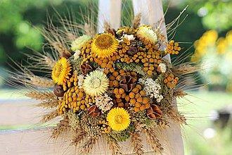 Dekorácie - Sušená kytica - 9799343_
