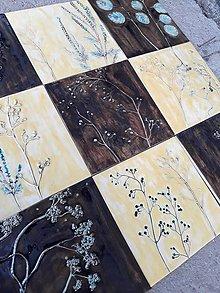 Dekorácie - Obklad vanilkova a zlata s kovovým efektom - 9800558_