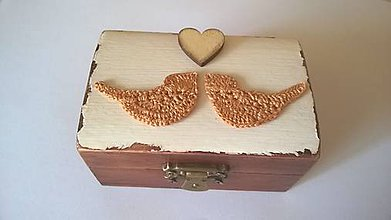 Krabičky - Krabička zaľúbené vtáčiky - 9800078_