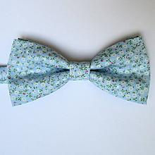 Doplnky - pánsky motýlik jemne modrý - 9800121_