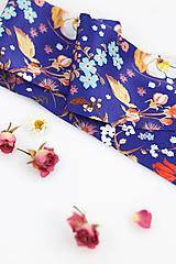 Šatky - Dámska šatka z exkluzívnej hodvábnej kvetinovej látky