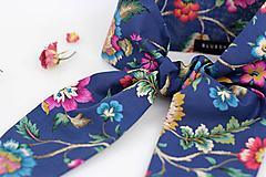 Šatky - Veľká šatka do vlasov a krku z kvetinovej látky