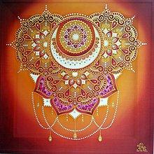 Obrazy - Mandala ženskosti...sakrálna čakra - 9800000_