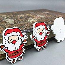 Galantéria - gombík vianočný dedo mráz 30mm - 9799175_