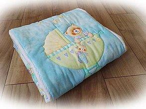 Textil - Detská deka Méďa s brmbolcami - 9800797_