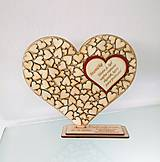 Tabuľky - Drevené srdce - 9800275_