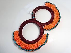 Náušnice - Háčkované náušnice - Vo farbách Afriky - 9799522_