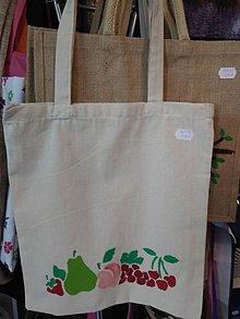 Nákupné tašky - Plátená nákupná taška s ovocím - 9799594_