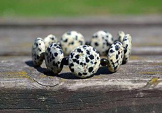 Náramky - Jaspis Dalmatínec náramok - 9799636_