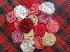 Materiál ručne robený - ruža viac farieb - 9799698_