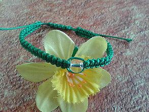 Náramky - Zelený ochranný náramok - blíženci - 9799779_