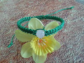 Náramky - Zelený ochranný náramok - býk - 9799814_