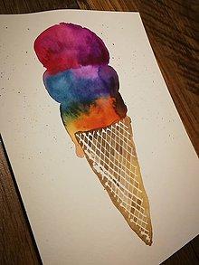 Obrazy - Dúhová zmrzlina - 9799055_
