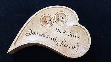 Prstene - Srdiečko pre novomanželov - 9800225_