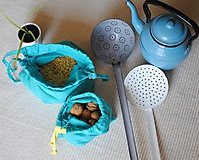 Úžitkový textil - Bavlnené vrecko na potraviny - 9799352_