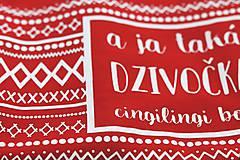Tričká - A ja taká dzivočka (červené tričko) - 9800158_