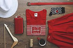 Tričká - A ja taká dzivočka (červené tričko) - 9800162_