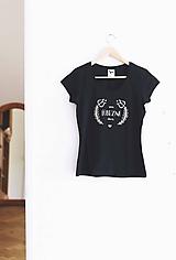 Tričká - Som ľúbezná deva (tmavomodré tričko) - 9800319_