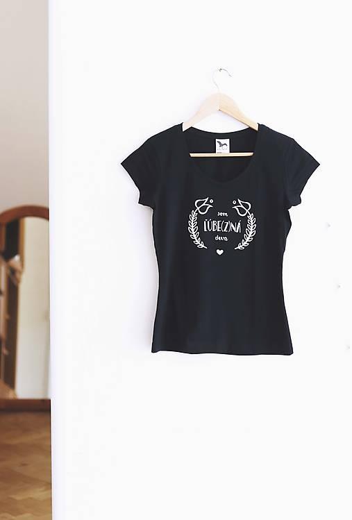 Som ľúbezná deva XL (tmavomodré tričko) / AKCIA