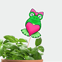 Dekorácie - Žabie zápichy do kvetináča (žabka zamilovaná) - 9800503_