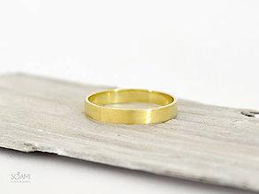 Prstene - 14k zlatý  prsteň obrúčka - 9802350_