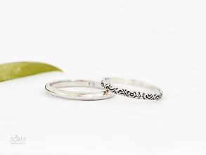Prstene - 925 Strieborné SNUBNÉ prstene, obrúčky - 9802700_