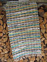 Úžitkový textil - RUČNE TKANÝ KOBEREC cca70x200cm - 9802160_