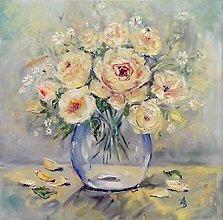 Obrazy - Kytica žltých ruží_predané - 9802123_