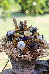 Dekorácie - Aranžmán zo sušených kvetov - 9802087_