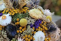 Dekorácie - Aranžmán zo sušených kvetov - 9802088_