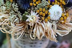 Dekorácie - Aranžmán zo sušených kvetov - 9802089_