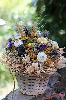 Dekorácie - Aranžmán zo sušených kvetov - 9802086_