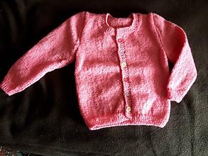 Svetre/Pulóvre - detský ružový svetrík - 9802302_