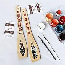Pomôcky - Maľované varešky s postavičkou - Detva - 9801736_